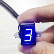 AU Universal LED Digital Gear Indicator Motorcycle Display Shift Lever Sensor