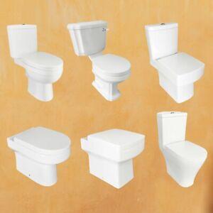 Toilet Close Coupled Back To Wall Corner Ceramic Soft Close Seat Bathroom BTW