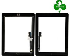 For iPad 3 / 4 Black Touch Screen Digitizer Glass with Home Button and Adhesive