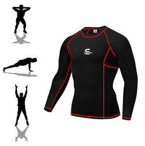 Mens Breathable T Shirt Wicking Cool Dry Running Gym Top Sports Compression New
