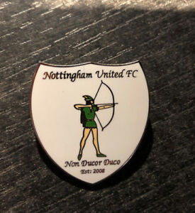 Alte Anstecknadel Nottingham United FC - Non Ducor Duco - Est: 2008