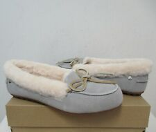 UGG Women's SOLANA LOAFER Shoes Slipper 8.5US SEAL Grey Suede NWB $110 MSRP