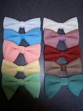 70's Bow Ties - White, Blue, Peach, Yellow, Green, Ivory, Rose, Rust & Camel