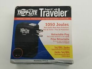 New Tripp Lite Traveler Portable Surge Protector for Notebook/Laptop 1050 Joules