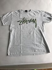 A BATHING APE stussy Tee White SIZE M BAPE T-shirts 30th anniversary USED