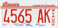DANIEL STERN SIGNED AUTO HOME ALONE LICENSE PLATE MARV BECKETT BAS COA 1