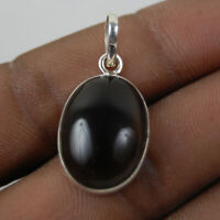 925 Sterling Silver Pendant Necklace Natural Smoky Quartz Jewelry PS-1611
