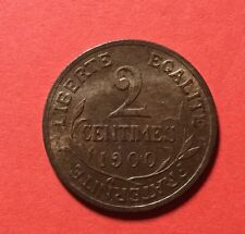 2 Centimes 1900 Sup