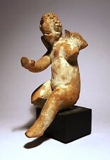STATUETTE GRECQUE - CUPIDON - 300/200 BC -  GREEK FIGURE - SEATED WINGED CUPID