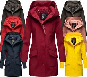 Marikoo Ladies Warm Winter Softshell Jacket FVS4 Parka Coat Long With Hood