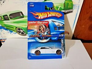 HOT WHEELS  CADILLAC SIXTEEN  WHITE  FASTER THAN EVER