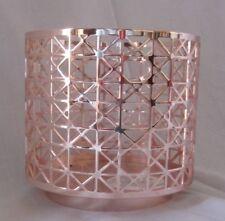 Bath & Body Works 3-Wick 14.5 oz Candle Sleeve Holder GEOMETRIC GRID Rose Gold
