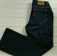 Volcom Juniors Size 9 Jeans Straight Leg Lightly Distressed Dark Wash Mid Rise