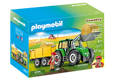 Playmobil 9317 Tractor with Trailer (Farms & Animals, Playsets) Age 3+