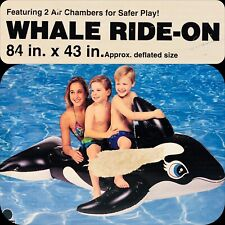 Intex Whale Inflatable Ride-On 84x43 Sealed Box Pool Float 1997 Wet Set - NEW!