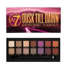 W7 Dusk Till Dawn Eye Colour Palette 14 Eyeshadows Ultra Violet Neutrals new