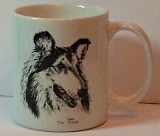 Collie coffee mug cup Cindy Farmer Rosalinde Porcelain Hand Decorated In USA dog