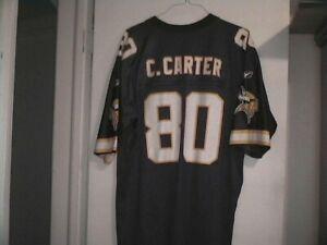Vintage Logo Reebok # 80 C. Carter Minnesota Vikings Jersey