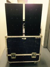 EAW KF 300e Three Way Speakers Pair (2) with a road case