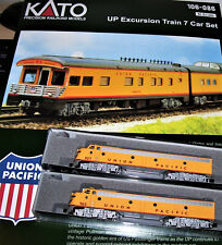 KATO 1060861 & 1765317 & 1765318 N Union Pacific 2 locos + 7 Cars  Set w lights
