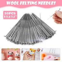 30PCS 3.5/3.4/3 Inch Mixed Felting Needles For Wool Felt Kit DIY Crafts Tool !