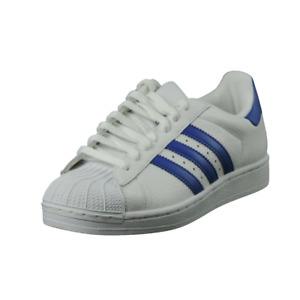 Adidas Superstar II Original Mens Shoes SZ 7.5 White Blue Sneaker Leather 351473