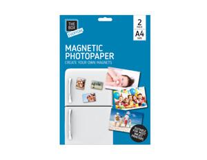 A4 MAGNETIC PHOTO PAPER Printing Inkjet Gloss Create Printable Fridge Magnet UK
