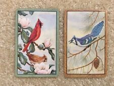 Vintage 2 Single Swap Playing Cards Birds Cardinals Flowers Blue Jay Pine Cone