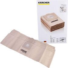 Karcher a2201 a2204 a2206 a2234 Wet & Dry Aspiradora bolsas de polvo 5pk Origina...