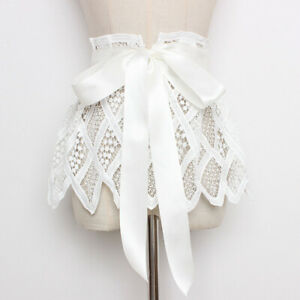 Lady Lace Obi Dress Belt Waistband Ribbon Cinch Tie Up Girdle Corset Pleated New
