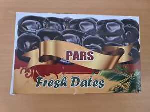 Fresh Dates Iranian Soft Smooth Vegan Sweet Sugary Dates Box 600 grams Class 1