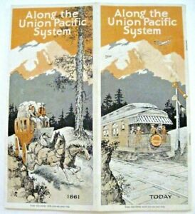 """1927 Travel Brochure """"Along the Union Pacific System"""" Stagecoach, Train & Plane*"""