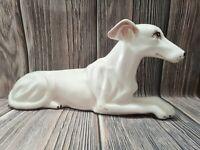 Greyhound Whippet Dog VTG Ceramic Figure Figurine Statue 13.5″ Decor Mid Century