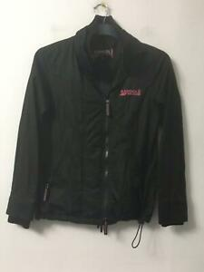 Kangol Black Jacket Size 8 Womens Long Sleeve (F598)