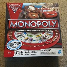 2011 Disney-Pixar CARS 2 MONOPOLY Board Game By Parker Brothers Ages 5+