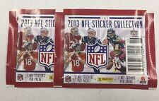 2013 PANINI NFL FOOTBALL Stickers 2 PACK Lot