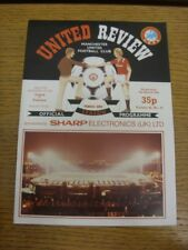 06/03/1985 Manchester United v Videoton [UEFA Cup] (team changes). Any faults wi
