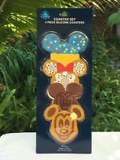 Disney Parks Snack Food Icons Coaster Set of 4 Mickey & Minnie Mouse NEW