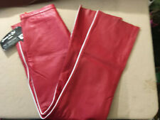 NWT JAMES & JOHN RED LEATHER EXTASY PANTS w/ WHITE TRIM WOMEN'S SIZE 2X-EB113