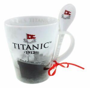 White Star Line Titanic 1912 Collectors Mug and Spoon Set
