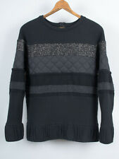 Hussein Chalayan mixed patch pullover sweater sweatshirt size S