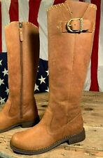 Harley Davidson Women's Size 6 M Motorcycle Side Zip 16 Inch Tall Boots D84485