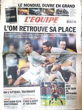 L'Equipe Journal 28/9/2002; L'OM retrouve sa place/ Ouverture Mondial Automobile