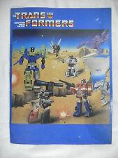 vtg 1985 Transformers G1 School FOLDER Frito Lay Mail Away Optimus Megatron