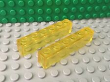LEGO Lot of 2 Trans Yellow 1x6 Brick - Classic Space 926 928 497 6950 493