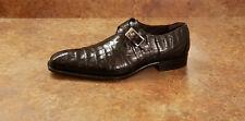 New! Mezlan 'Gables' Genuine Crocodile Monk Loafers Black Mens 10 M MSRP $795