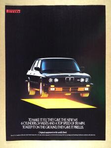 1987 Pirelli Tires BMW E28 M5 car art vintage print Ad