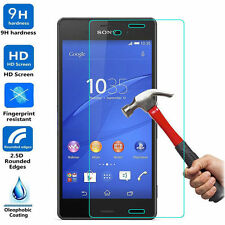 5 X Premium Ultra Clear Tempered Glass Screen Protector For Sony Xperia Z3