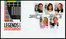 2018 Legends of Entertainment S/A FDC First Day Cover Stamps Australia