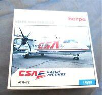herpa czech airlines atr-72 1:500 nr 508063 ovp einwandfrei aus sammlung
